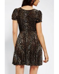 Urban Outfitters | Brown Minkpink Russian Roulette Velvet Dress | Lyst