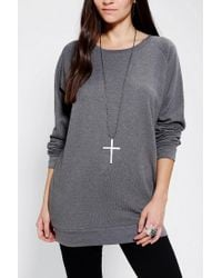 Urban Outfitters Gray Sparkle Fade Pullover Tunic Sweatshirt
