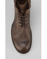 Urban Outfitters Brown Frye Fulton Laceup Boot