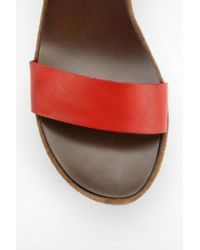 Urban Outfitters Brown Steve Madden Alisse Platform Wedge Sandal