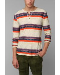 Urban Outfitters - White Koto Printed Henley Shirt for Men - Lyst