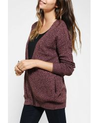Urban Outfitters | Purple Silence Noise Marled Zipfront Cardigan | Lyst