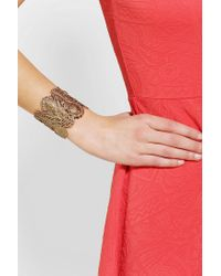 Urban Outfitters - Metallic Alkemie Peacock Feather Cuff Bracelet - Lyst