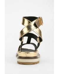 Urban Outfitters All Black Metallic T-strap Sandal for men