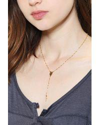 Natalie B. Jewelry - Metallic Natalie B Jewelry Rosary Necklace - Lyst