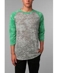 Urban Outfitters - Green Alternative Burnout Raglan Tee for Men - Lyst