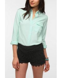 BDG | Green Classic Oxford Button-Down Shirt | Lyst
