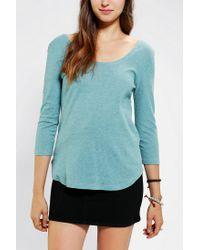 BDG | Green Winterlite Scoopneck Shirt | Lyst