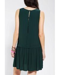 Urban Outfitters   Green Double Layer Drop Waist Tank Dress   Lyst