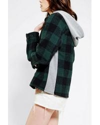 Urban Outfitters | Green Snap X Urban Renewal Hooded Flannel Shirt for Men | Lyst