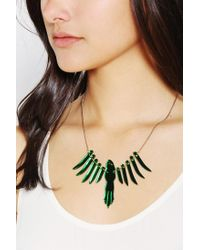 Urban Outfitters Green Tatty Devine Parakeet Necklace