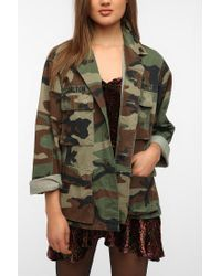 Urban Outfitters | Green Oversized Camo Jacket | Lyst