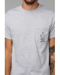 Urban Outfitters | Gray Brixton Tonic Pocket Tee for Men | Lyst