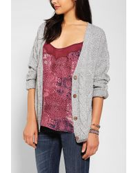 Urban Outfitters - Gray Coincidence Chance Mixedcable Slouchy Cardigan - Lyst