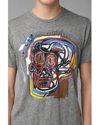Urban Outfitters | Gray Junk Food Basquiat Untitled Skull Tee for Men | Lyst