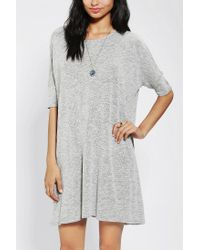 Urban Outfitters | Gray Sparkle Fade Knit Swing Cape Dress | Lyst