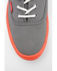 Urban Outfitters Gray Vans Authentic Lite Neon Sole Womens Sneaker