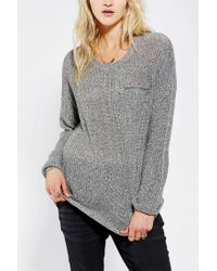 Urban Outfitters - Gray Sparkle Fade Shaker Zippocket Sweater - Lyst