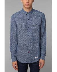 Urban Outfitters | Blue Henry Dobby Indigo Shirt for Men | Lyst
