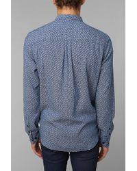 Urban Outfitters - Blue Henry Dobby Indigo Shirt for Men - Lyst