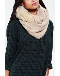 Urban Outfitters - Natural Bickley Mitchell Lined Eternity Scarf - Lyst