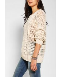 Urban Outfitters - Natural Dra Stockholm Openknit Sweater - Lyst