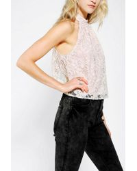 Urban Outfitters - White Pins and Needles Lace Openback Top - Lyst