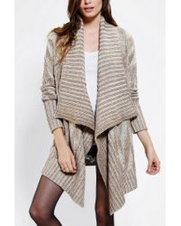 Urban Outfitters | Natural Staring At Stars Plaited Open Front Cardigan | Lyst