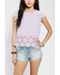Urban Outfitters - Purple Dv By Dolce Vita Story Eyelet Top - Lyst
