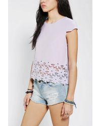 Urban Outfitters | Purple Dv By Dolce Vita Story Eyelet Top | Lyst