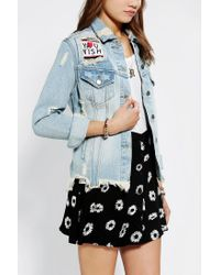 Urban Outfitters | Blue Unif X Uo Fornever Denim Trucker Jacket | Lyst