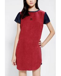 Urban Outfitters - Blue Lucca Couture Vegan Suede Colorblock Dress - Lyst