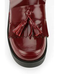 Urban Outfitters Red Shellys London Tassel Platform Loafer