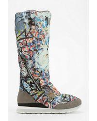 Urban Outfitters Multicolor Adidas Slvr Zansar Graffiti Sneaker boot
