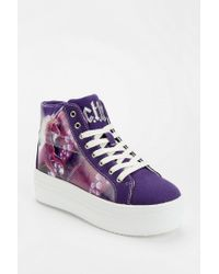 Urban Outfitters Purple Cute To The Core Monster Unicorn Hightop Flatform Sneaker