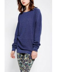 Urban Outfitters | Blue Sparkle Fade Pullover Tunic Sweatshirt | Lyst