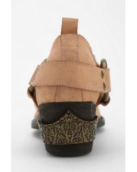 Urban Outfitters Natural Nogales Harness Cutoff Ankle Boot