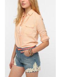 BDG | Orange Classic Oxford Button-Down Shirt | Lyst
