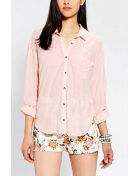 Urban Outfitters | Pink Bdg Sebastian Button Down Shirt | Lyst