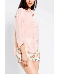 Urban Outfitters - Pink Bdg Sebastian Button Down Shirt - Lyst