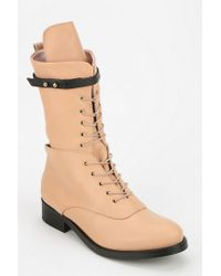 Urban Outfitters Pink Miista Angela Panther Combat Boot