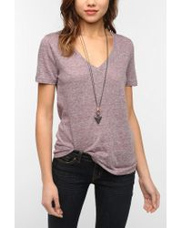 Urban Outfitters | Purple Bdg Triblend Vneck Tee | Lyst
