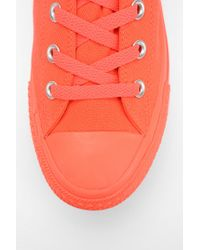 Urban Outfitters Orange Converse Chuck Taylor All Star Tonal Hightop Flatform Sneaker