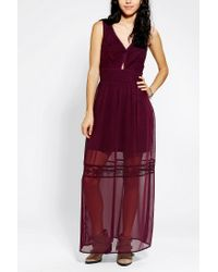 Urban Outfitters - Red Kimchi Blue Precious Cutoutfront Maxi Dress - Lyst