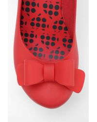 Urban Outfitters Red Mel By Melissa Shoes Toffee Bow Platform Wedge