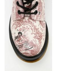 Urban Outfitters Brown Dr Martens Floral Drawing 8eye Boot