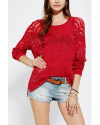 Urban Outfitters | Red Staring At Stars Openstitch Sweater | Lyst