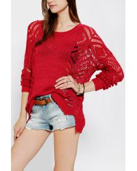 Urban Outfitters - Red Staring At Stars Openstitch Sweater - Lyst