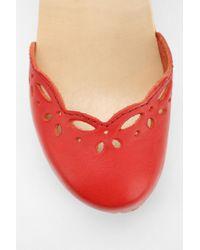 Urban Outfitters Red Swedish Hasbeens Singoalla Heel