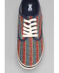Urban Outfitters Red Treasure Market Striped Sneaker for men